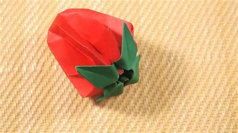 How To Make A Paper Strawberry - how to fold strawberry origami with pictures wikihow