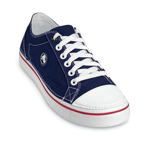 Crocs Hover Canvas Blue Navy Low crocs hover lace up mens footwear