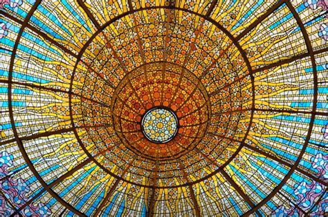 della ca stained glass skylight palau de la m 250 sica catalana