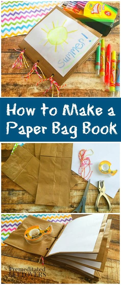 How To Make A Simple Paper Bag - how to make a paper bag book for here is an easy