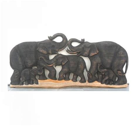 home decorators elephant her wood carving of 5 elephant family art hand carved natural teak