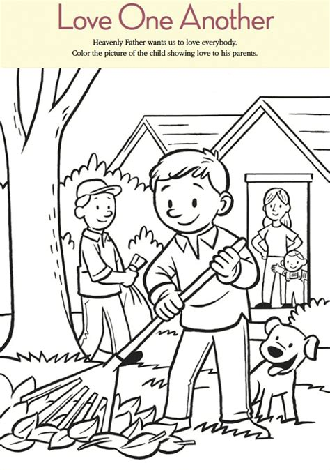 One Another Coloring Pages lds coloring pages one another coloring home