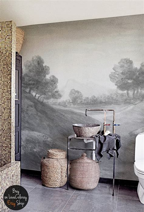 reusable wall murals vintage countryside painting wall mural reusable wall paper