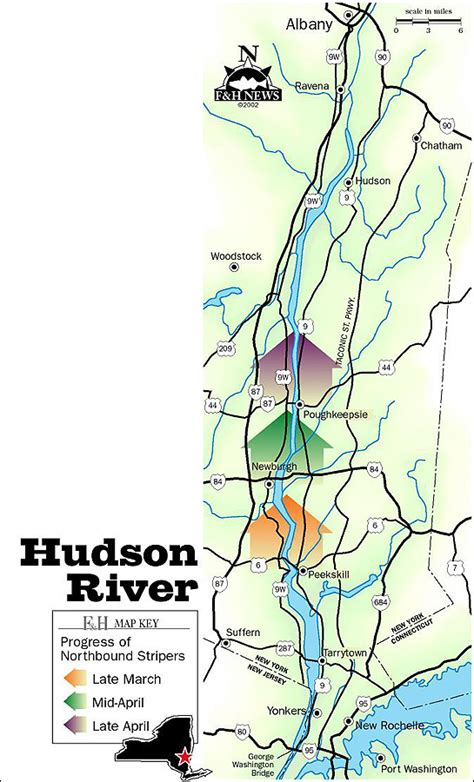 hudson river map bass riverfront marina