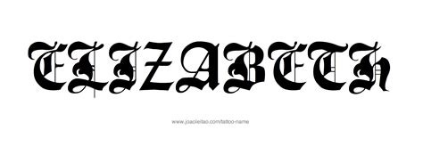 tattoo lettering elizabeth elizabeth name tattoo designs