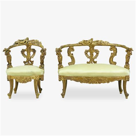 italian settee italian baroque gilt wood settee and chair d elegance