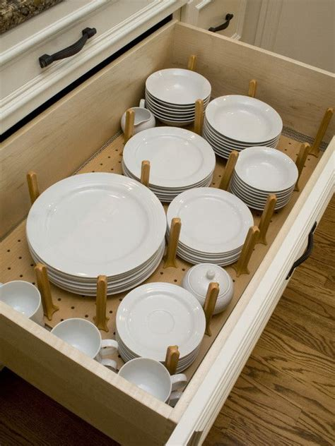 kitchen drawer plate organizer for the home