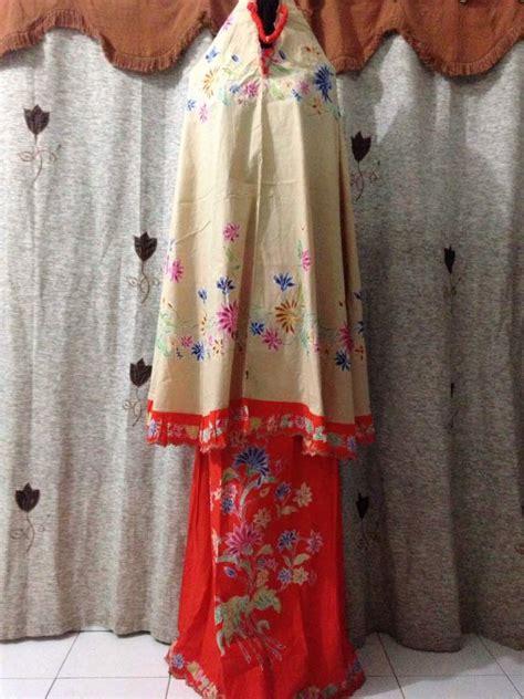Mukena Kombinasi Batik mukena batik cap motif encim m1 16 batik pekalongan by