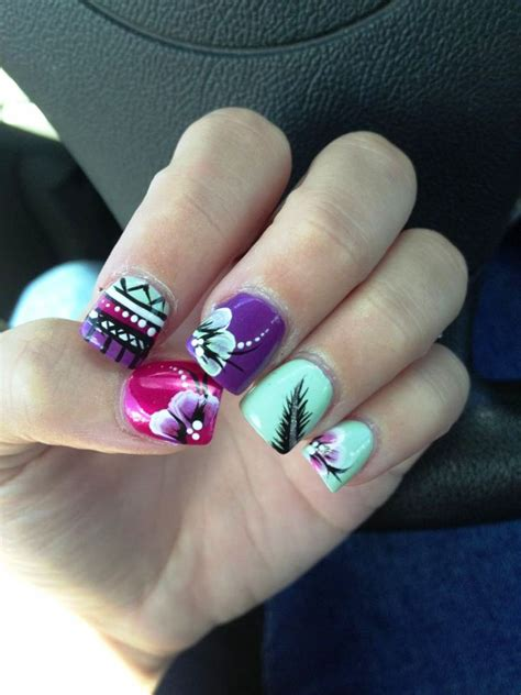 15 Feather Nail Art Designs And Ideas · Inspired Luv Unique Nail Designs Pinterest