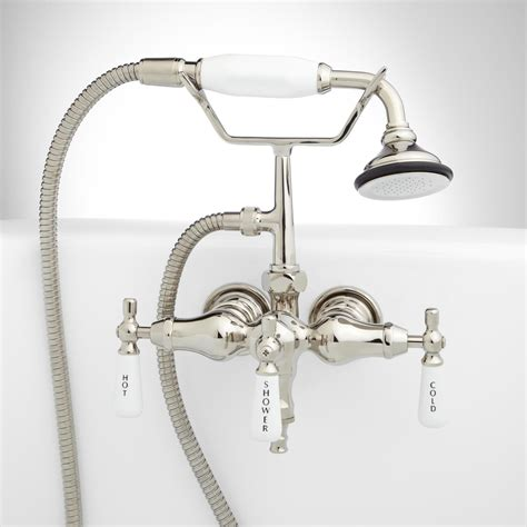 hand held shower for bathtub faucet woodrow wall mount tub faucet and hand shower tub
