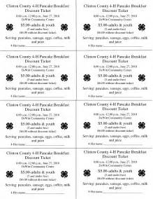 Pancake Breakfast Ticket Template best photos of printables prayer breakfasts programs sle sle prayer breakfast program