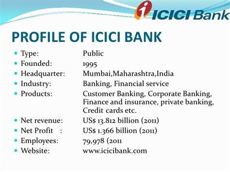 Mba Marketing Project On Icici Bank by Icici Bank Ppt