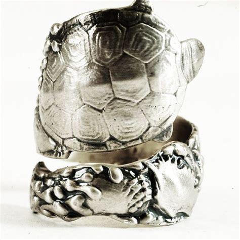 Tortle Adjustable Animal Size S 1000 images about animal spoon rings on