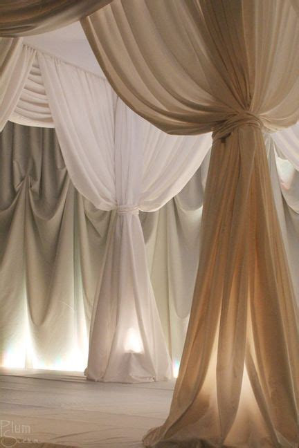 how to drape walls with fabric plumsiena wedding whites bath sauna spa pinterest
