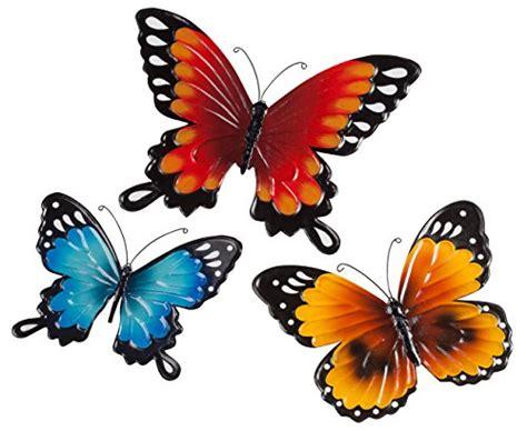 Set Of 3 Metal Wall Butterflies Metal Wall Art Garden Garden Metal Wall Butterfly