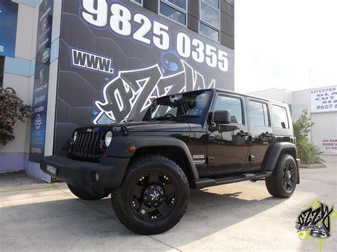 Jeep Wrangler Black Rims Jeep Wrangler With Kmc Rockstar Xd Matte Black Wheels