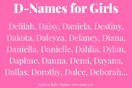 names that start with d d names for baby nancy s baby names