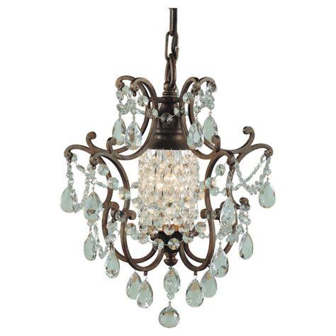 1 light mini chandelier feiss maison de ville 1 light bronze mini