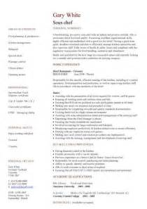 Sle Sous Chef Resume by Wedding Biodata Sle
