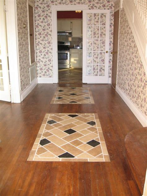 Replace Tile With Hardwood In Kitchen by Kitchen Floor Tile Designs Flooring Whether Its