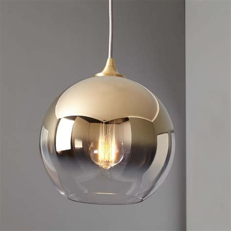 west elm pendants ombre mirrored pendant west elm
