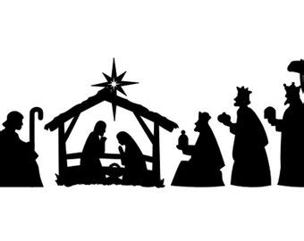 Search Results For Free Printable Nativity Silhouette Pattern Calendar 2015 Nativity Silhouette Template
