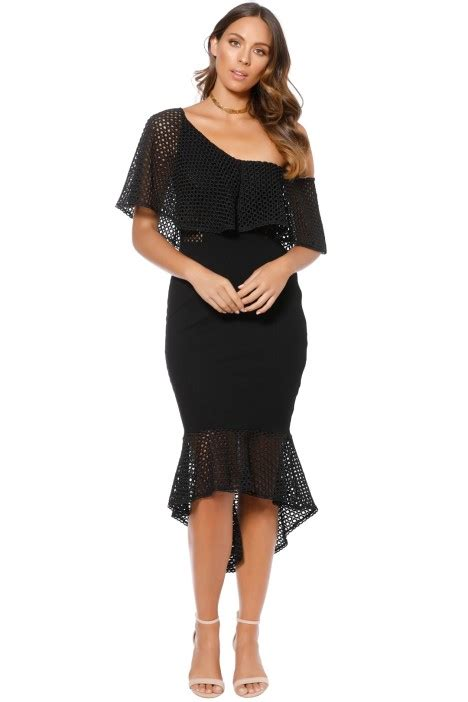 Harlow Black harlow dress in black by elliatt for hire glamcorner