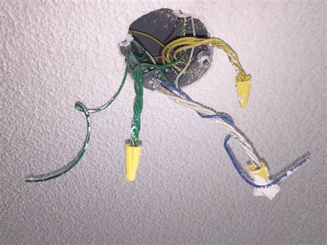 light fixture electrical box what are all these wires