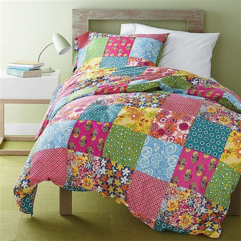 Patchwork Company - monterey patch duvet cover set the company store