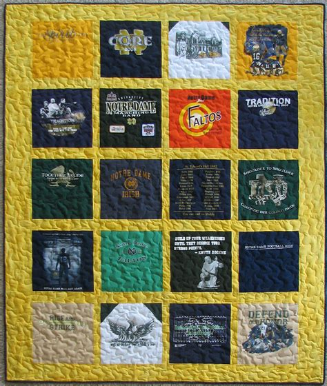 Quilt From T Shirts by 1000 Images About Notre Dame T Shirt Quilt On