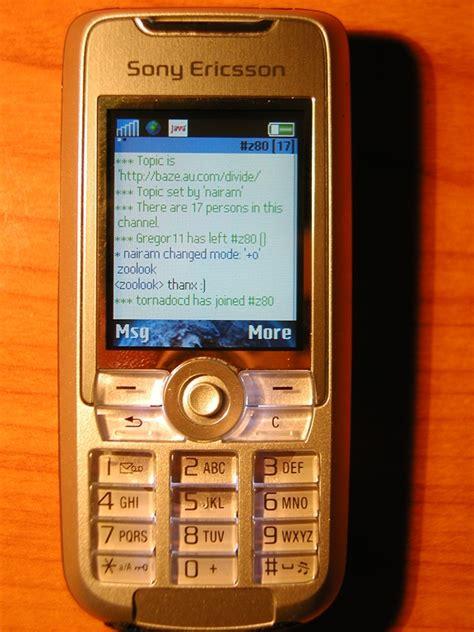 mirc mobile jmirc java mobile irc client j2me