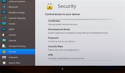 reset blackberry playbook without password blackberry playbook how to delete all data security wipe