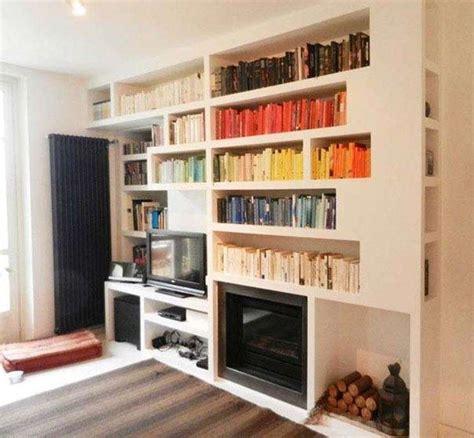 libreria in gesso idee pareti soggiorno in cartongesso foto design mag