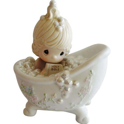 precious moments he cleansed my soul figurine 1985 bathtub