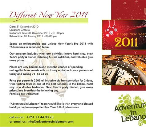 new year program different new year with adventures in lebanon bnl