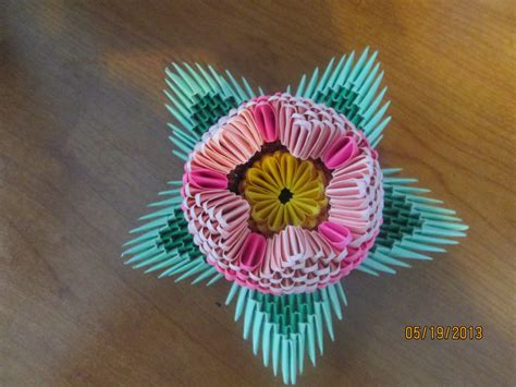 3d Origami Flower - 3d origami lotus flower by smileveryoften on deviantart