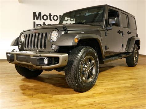 jeep 4x4 unlimited 2016 jeep wrangler unlimited 4x4 75th edition