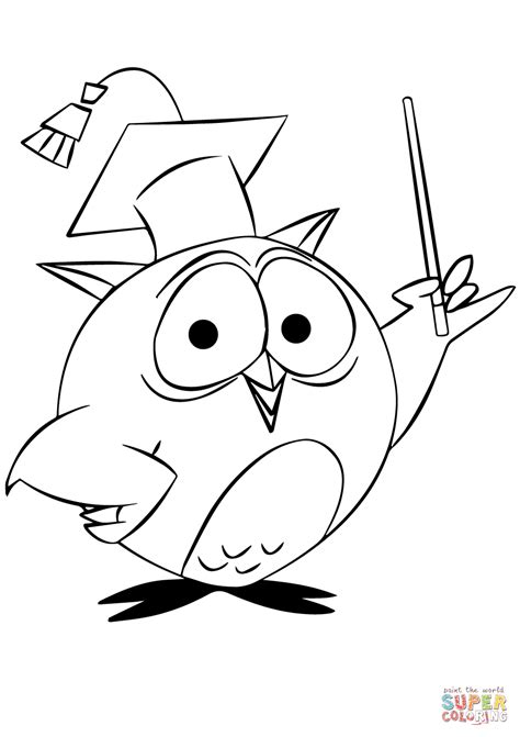 owl coloring owl professor coloring page free printable