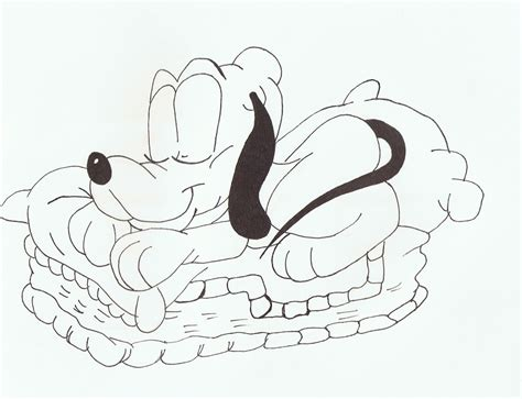 baby pluto coloring pages