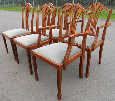 Sold Set Of Six Yew Dining Chairs In Antique Georgian Style Yew Dining Chairs