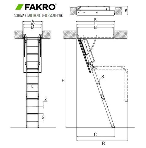 scale da soffitta ingombro scale interne amazing scale misure stairs