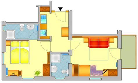 piantina di un appartamento garni genziana s cristina val gardena