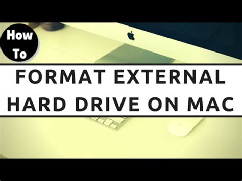format external hard drive to work with mac how to format external hard drive for mac youtube
