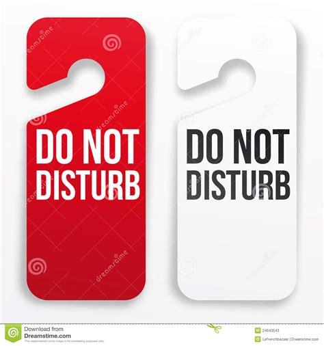 do not disturb hotel door hanger stock photos image