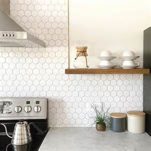 white backsplash tile for kitchen 36 eye catchy hexagon tile ideas for kitchens digsdigs