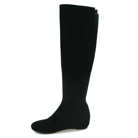 solemani s hang out black suede boot narrow calf