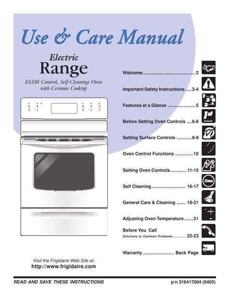 frigidaire range es330 user s guide manualsonline