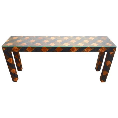 Upholstered Console Table Upholstered Parsons Console Table For Sale At 1stdibs
