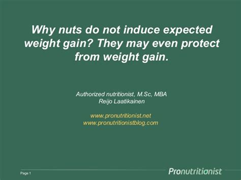 5 Year Mba Gain by Why Nuts Do Not Cause Weight Gain