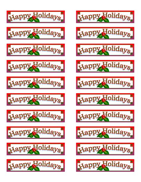 christmas address label template avery 5160 templates